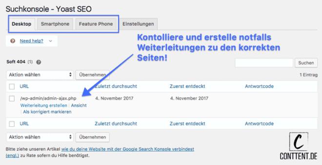 Wie du URL und Crawling Fehler in der Yoast Suchkonsole beheben kannst