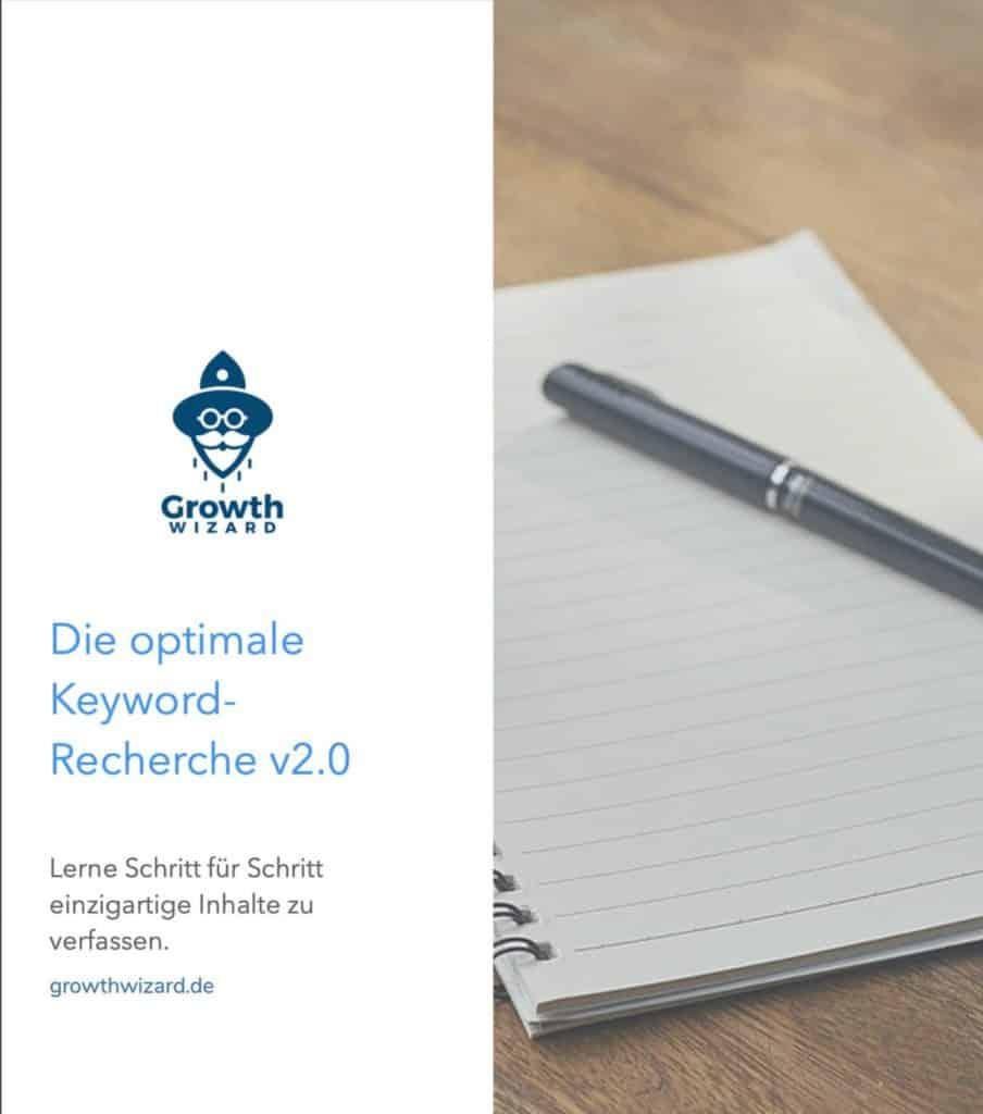 Cover: Kostenloses eBook um zu lernen wie man eine Keyword Recherche durchführt