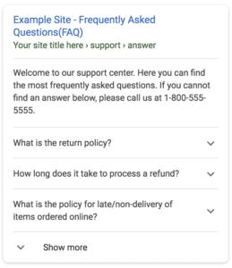 FAQ Boxen Suchergebnisse